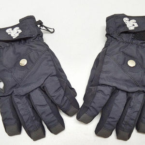 Triple Nickel 555 Boys Black Waterproof Gloves